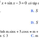 Bài tập luyện tập phương trình lượng giác