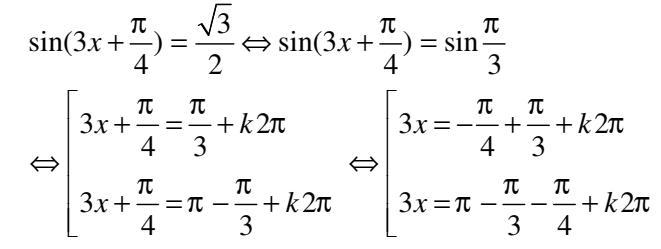Chuyên đề hàm số và phương trình lượng giác có lý thuyết và giải Bài tập cụ thể