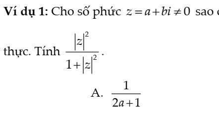 Phương pháp chuẩn hóa trong việc giải các bài toán khó phần Số Phức- Phạm Minh Tuấn