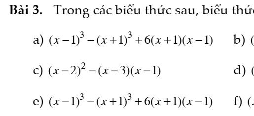 Bài tập tổng hợp ôn tập đại số 8- Chương 1- Đầy đủ dạng