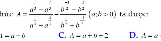 Đề kiểm tra 45 phút chương 2- Giải tích 12: Hàm số và phương trình mũ Lô-ga-rít đầy đủ