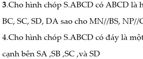 Bài tập quan hệ song song- Hình học 11-Chương 2- đầy đủ dạng
