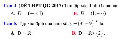 Hệ thống trắc nghiệm giải tích 12 chương 2: Hàm số và phương trình mũ – Lo-ga-rít có đáp án