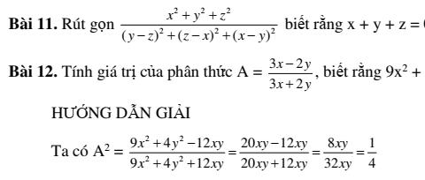 Chuyên đề rút gọn phân thức đại số- Chương 2- Đại số 8-đầy đủ