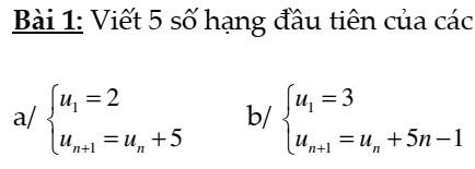 Bài tập cấp số cộng- cấp số nhân đầy đủ- Đại số và giải tích 11