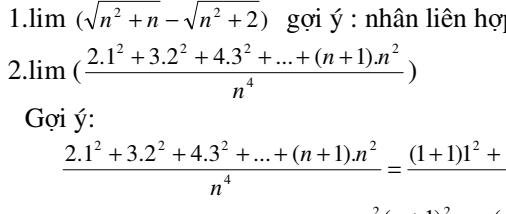 Chuyên đề giới hạn dãy số - hàm số và và ứng dụng