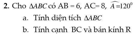 Bài tập hệ thức lượng trong tam giác có hương dẫn giải đầy đủ