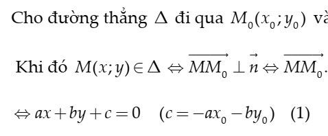 Phương trình đường thẳng trong mặt phẳng Oxy- FULL lý thuyết bài tập và đáp án