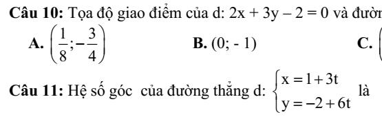 Đề kiểm tra 45 phút Hình học 10- Chương 3- Phương trình đường thẳng- Đường tròn- Đáp án chi tiết