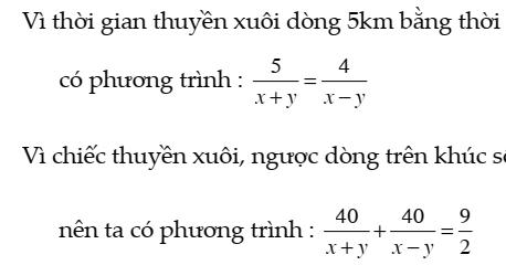 Giải toán bằng cách lập hệ phương trình – Đại số 9