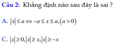 Đề kiểm tra 45 phút đại số 10 chương 4: Bất đẳng thức- Bất phương trình cực hay