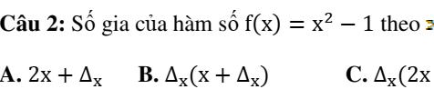Bài tập trắc nghiệm đạo hàm bản Full- Đại số và giải tích 11