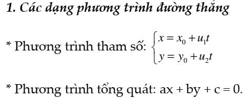 Các dạng Bài tập về phương trình đường thẳng trong mặt phẳng – Hình học 10