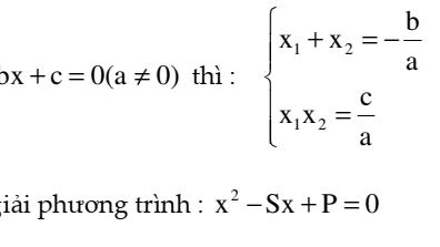 Các dạng toán về phương trình bậc hai và định lý Vi-Et dùng để ôn thi vào lớp 10