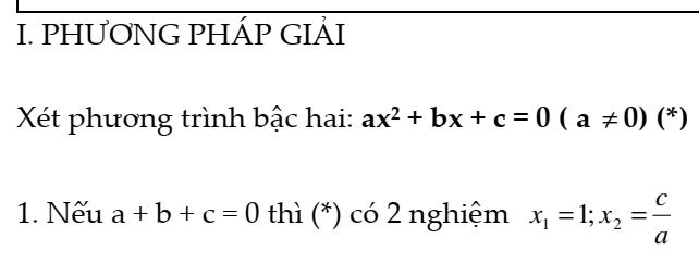 Chuyên đề một số ứng dụng của Định lý Vi-Ét vào việc giải toán-Đại số 9