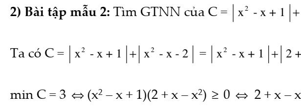 Phương pháp tìm giá trị lớn nhất và giá trị nhỏ nhất của biểu thức đại số 8- Có đầy đủ lý thuyết và các dạng toán giải chi tiết