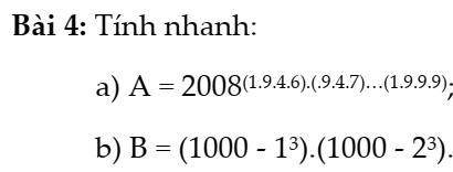 Lũy thừa của một số hữu tỉ đại số 7 chương 1- Nâng cao