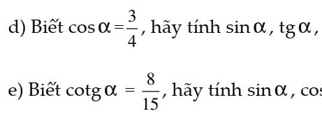Bài tập tỉ số lượng giác – Hình học 9- đầy đủ các dạng toán