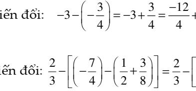 Đại số 7: Số hữu tỉ và các bài toán liên quan- Dạng 1: Cộng trừ các số hữu tỉ