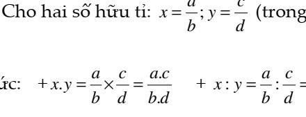 Đại số 7- chương I: Số hữu tỉ- Các phép toán- Dạng 2: Nhân chia trên tập số hữu tỉ