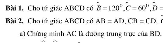 Chuyên đề hình học 8 chương 1- Tứ giác đầy đủ các dạng