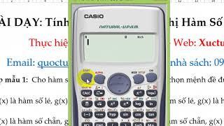 Xác Định Tính Chẵn Lẽ Của Hàm Số Lượng Giác Bằng Casio 570vn Plus- Cực Nhanh Và Chính Xác