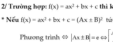 Đại số 9- Chương 1: Bài toán tìm x- Giải phương trình chứa căn bậc hai